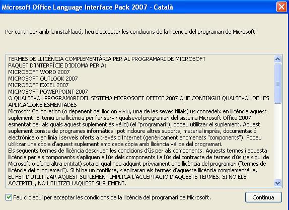 Llicència Office2007