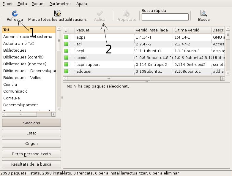 llx9.09 actualitza sistema 2