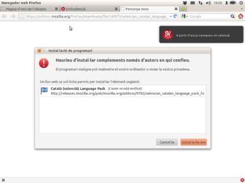"Extensió ""Paquet valencià Firefox"""