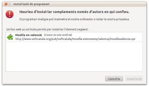 """Extensió """"Mozilla en valencià"""""""