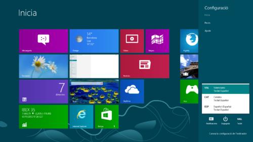 Windows 8 en valencià