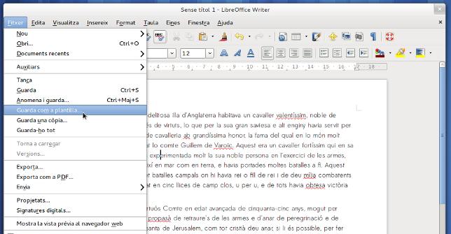 LibreOffice 4.1 en valencià